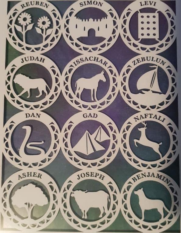 De symbolen van de twaalf stammen